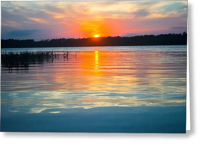 Lake House Greeting Cards - Colors at Sunset Greeting Card by Parker Cunningham