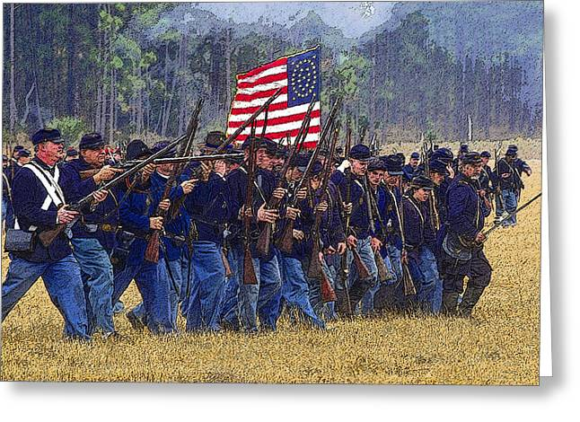 Skirmish Line Greeting Cards - Colors Forward Greeting Card by David Lee Thompson