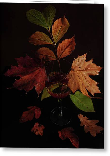 Colors In The Glass Greeting Card by Randi Grace Nilsberg