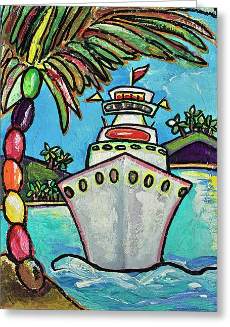 Cruise Vacation Greeting Cards - Colors of Cruising Greeting Card by Patti Schermerhorn