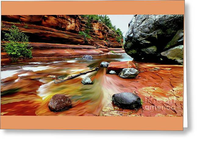 Slide Prints Digital Greeting Cards - Colors of Sedona Greeting Card by Chandra Nyleen