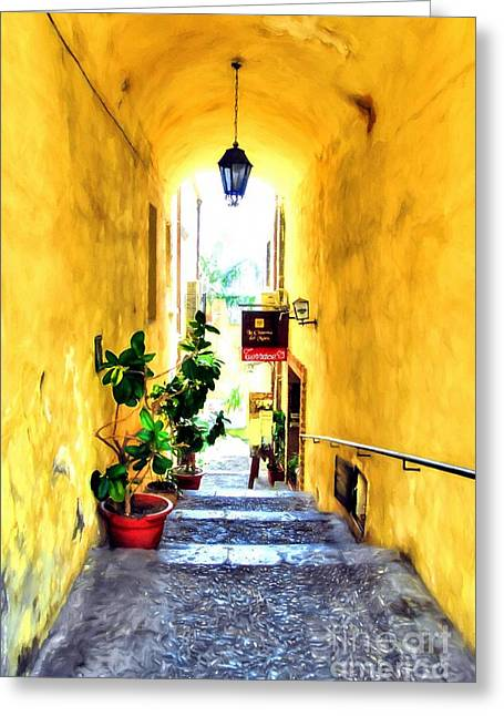 Colors Of Sicily # 5 Greeting Card by Mel Steinhauer