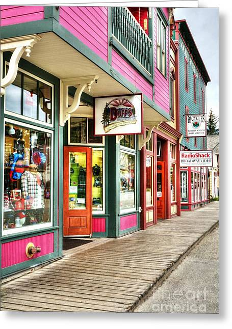 Alaskan Architecture Greeting Cards - Colors Of Skagway Greeting Card by Mel Steinhauer