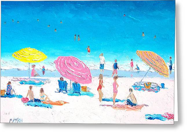 Beach Cottage Style Greeting Cards - Colors of Summer Greeting Card by Jan Matson