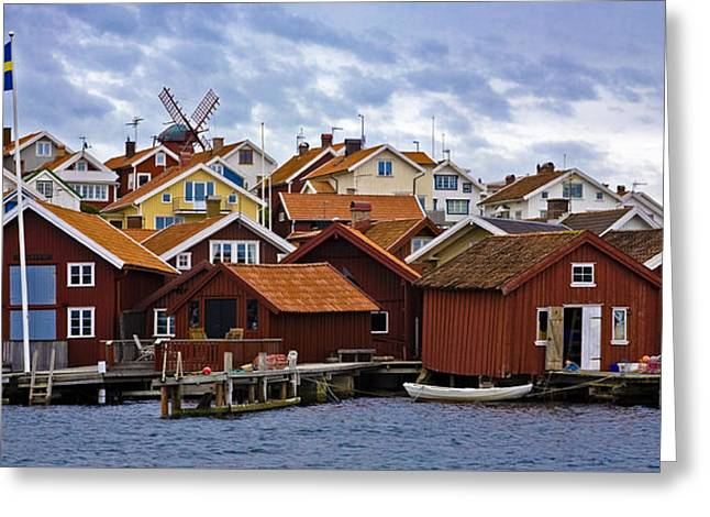 Village By The Sea Greeting Cards - Colors Of Sweden Greeting Card by Frank Tschakert