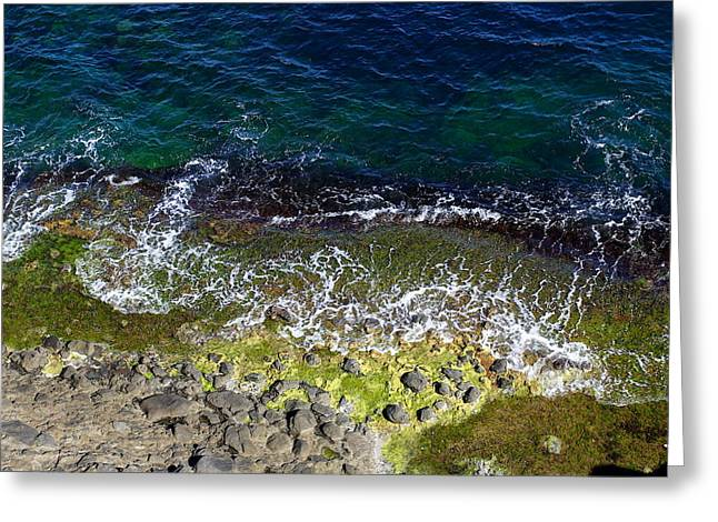 Blue And Green Greeting Cards - Colors Of The Black Sea Greeting Card by Hasan Malik Avunduk