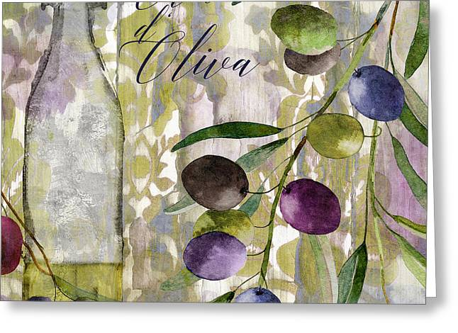 Olive Branch Greeting Cards - Colors of Tuscany Greeting Card by Mindy Sommers
