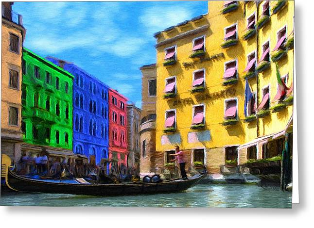 Canals Greeting Cards - Colors of Venice Greeting Card by Jeff Kolker