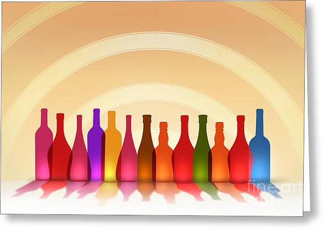 Colors Of Wine Greeting Card by Bedros Awak