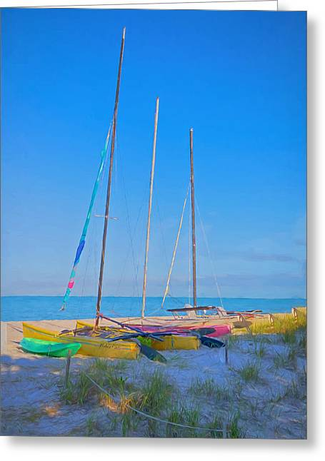 Sea View Greeting Cards - Colors On The Shore Greeting Card by Kim Hojnacki