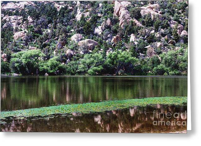 Prescott Greeting Cards - Colors surrounding Granite Mountain Greeting Card by Thomas  Todd