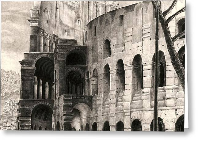 Colosseo Greeting Card by Norman Bean