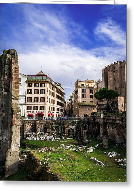 Clouds Reliefs Greeting Cards - Colosseum and the cloud  Greeting Card by Wajih Ben taleb