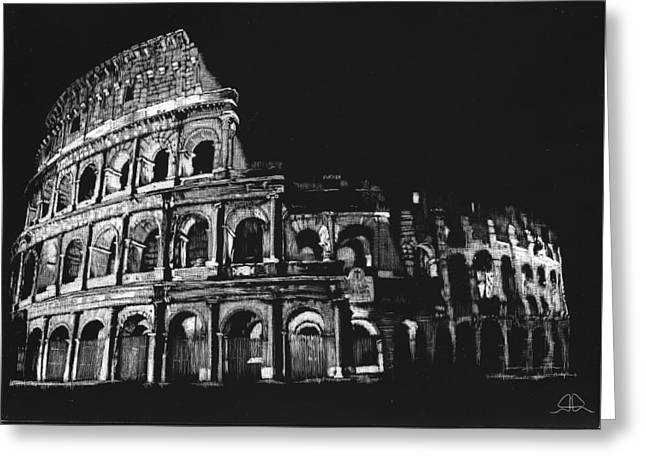 Italy Sculptures Greeting Cards - Colosseum Greeting Card by Justin Reding