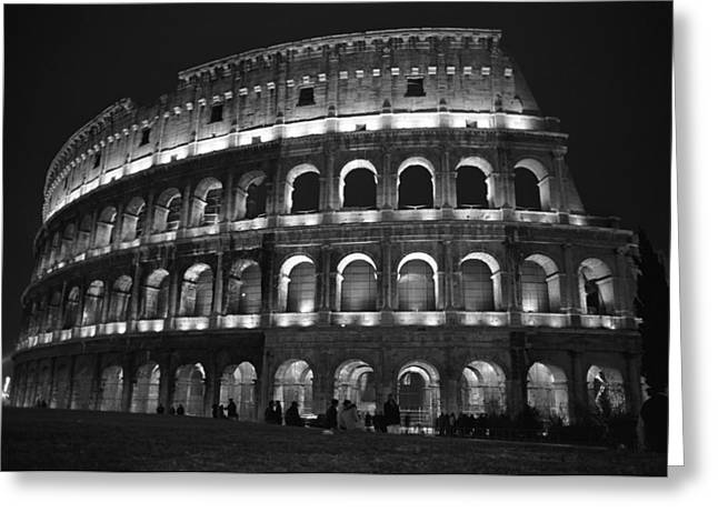 Kathy Schumann Greeting Cards - Colosseum Greeting Card by Kathy Schumann