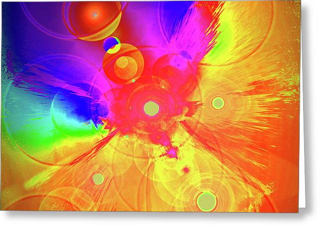 Anahata Greeting Cards - Colour-Energy No. 01 Greeting Card by Ramon Labusch