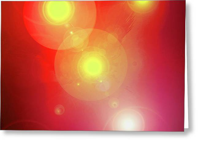 Basis-chakra Greeting Cards - Colour-Light No. 01 Greeting Card by Ramon Labusch