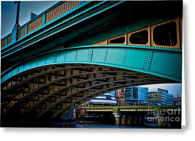 People Pyrography Greeting Cards - Colourful Architecture well crafted In London bridge.  Greeting Card by Cyril Jayant