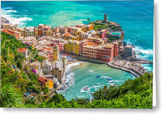 Colourful Cinque Terre Greeting Card by JR Photography