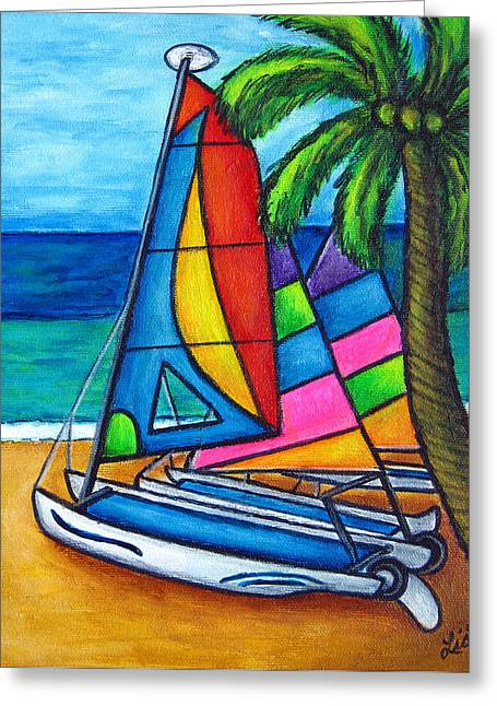 Colourful Hobby Greeting Card by Lisa  Lorenz