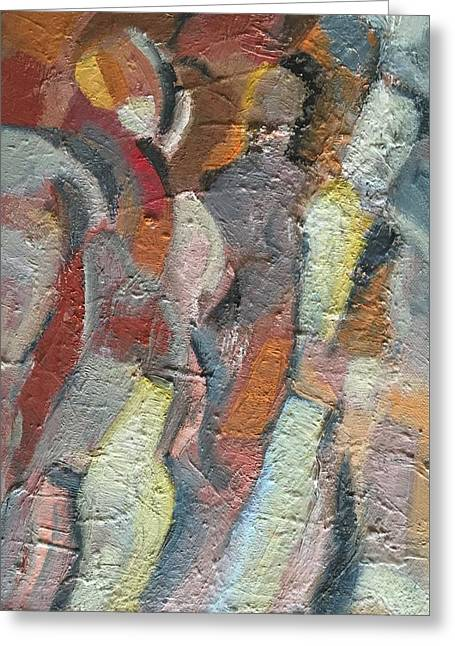 Abstract Expressionist Greeting Cards - Colourful Imagination Greeting Card by Lena B