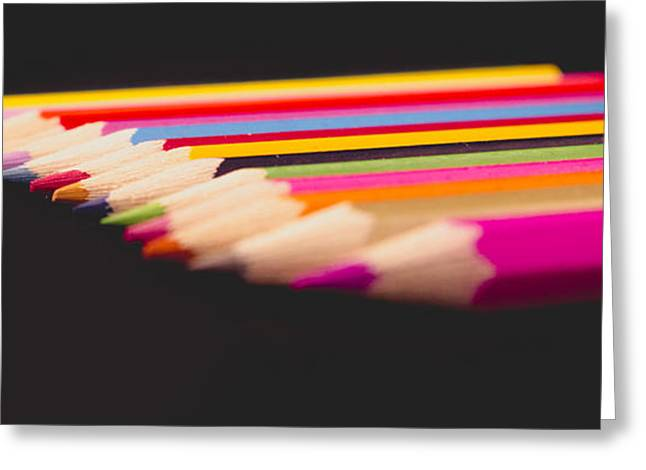 Coloured Greeting Cards - Colours Greeting Card by Angela Aird
