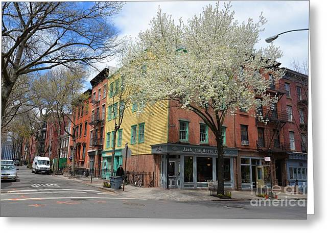 City Art Greeting Cards - Colours of Brooklyn Greeting Card by Marie Viant