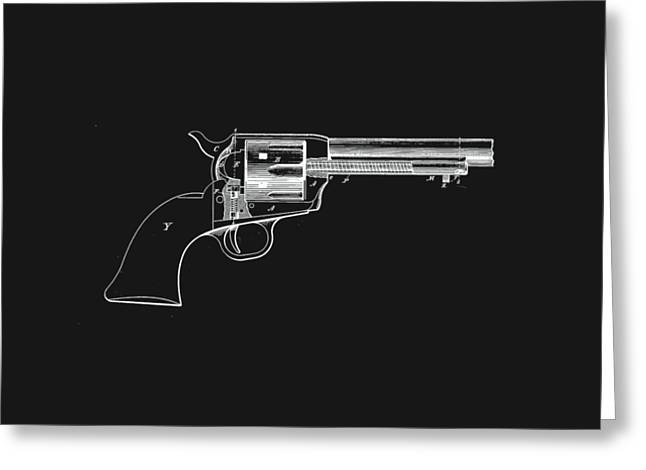 Colt Peacemaker Tee Greeting Card by Edward Fielding