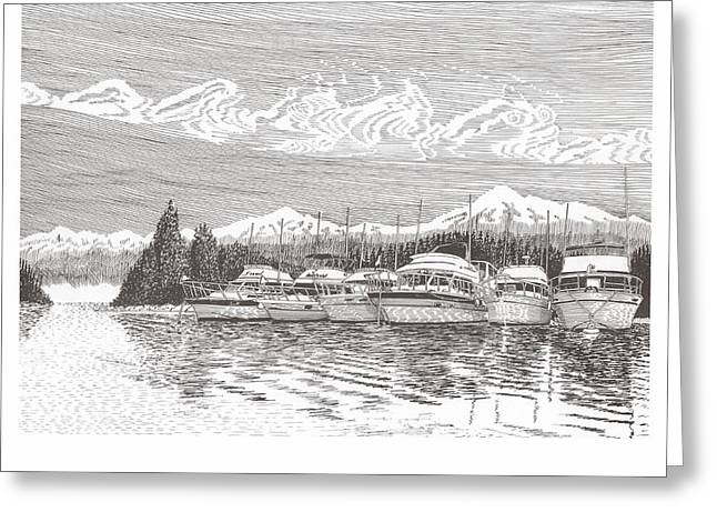 Columbia River Raft Up Greeting Card by Jack Pumphrey