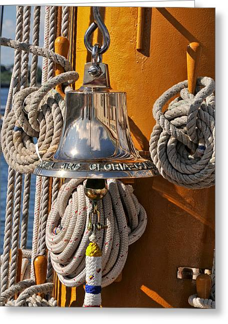 Tall Ships Greeting Cards - Columbian Navys Glorias Bell Greeting Card by Mike Martin