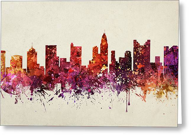 Columbus Ohio Greeting Cards - Columbus Cityscape 09 Greeting Card by Aged Pixel