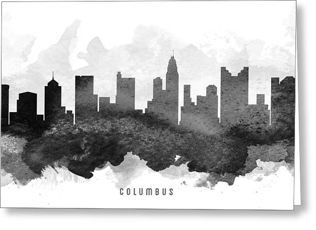 Columbus Cityscape 11 Greeting Card by Aged Pixel