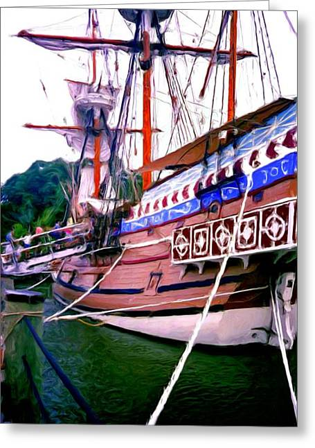 Columbus Day Celebration Greeting Card by Methune Hively