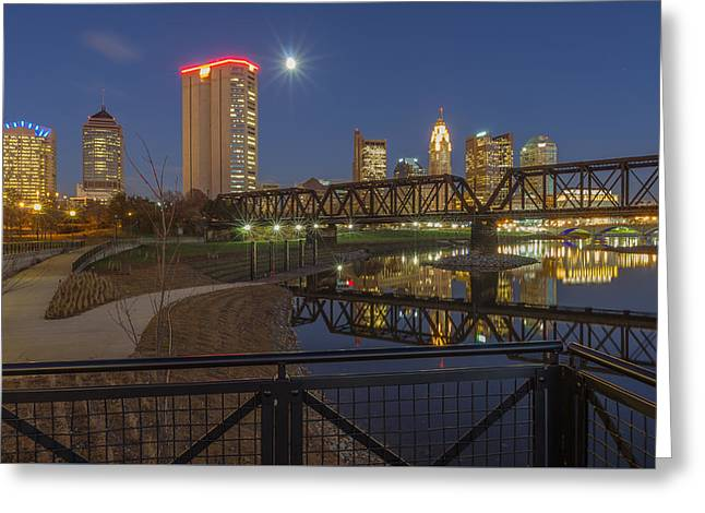 Columbus Ohio Nightscape Greeting Card by Scott McGuire