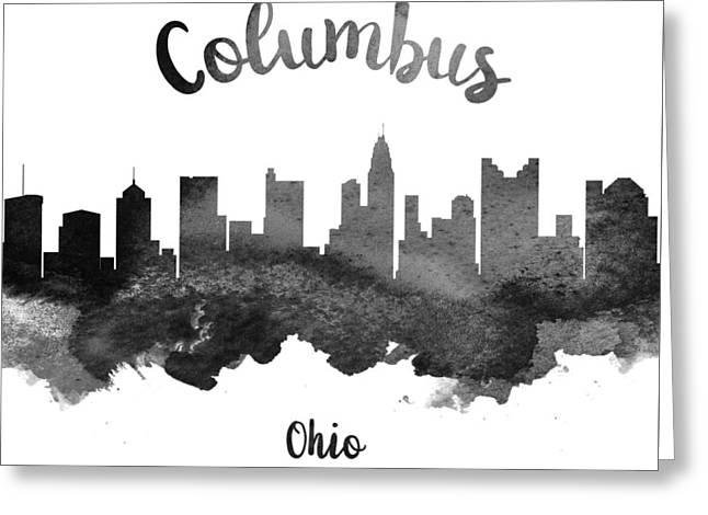 Columbus Ohio Greeting Cards - Columbus Ohio Skyline 18 Greeting Card by Aged Pixel