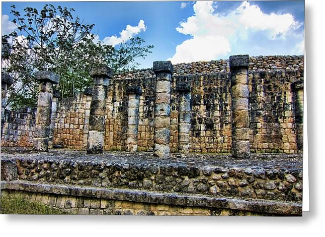Chichen Itza Greeting Cards - Columns Greeting Card by Douglas Barnard