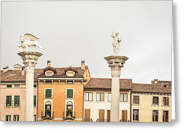 Charly Greeting Cards - Columns of Piazza Signori Greeting Card by Prints of Italy