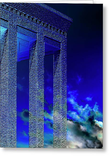 Altered Architecture Greeting Cards - Columns Under The Heaven Greeting Card by Adriano Pecchio
