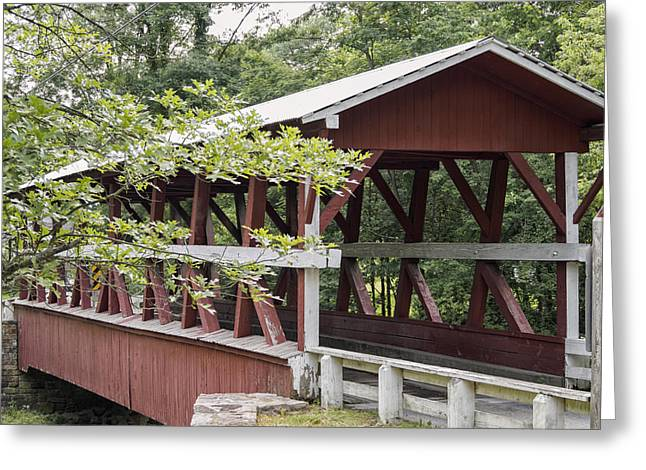 Oak Creek Greeting Cards - Colvin Covered Bridge I Greeting Card by Marianne Campolongo