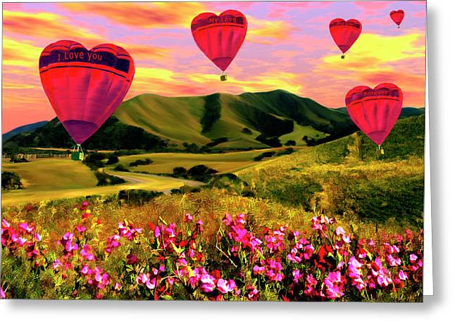 Pink Sweet Peas Greeting Cards - Come Fly With Me Greeting Card by Kurt Van Wagner