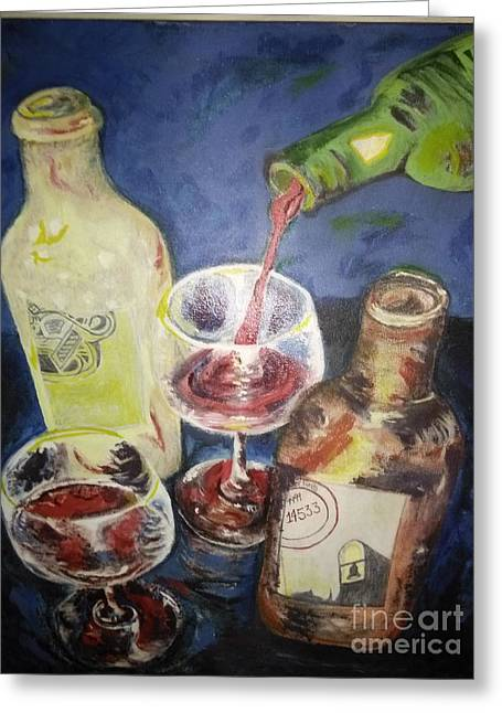 Famous Artist Greeting Cards - Come into the Vineyard Greeting Card by Michelle Reid