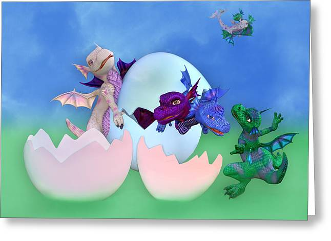 Fantasy Creatures Greeting Cards - Come Out and Play Greeting Card by Betsy C  Knapp