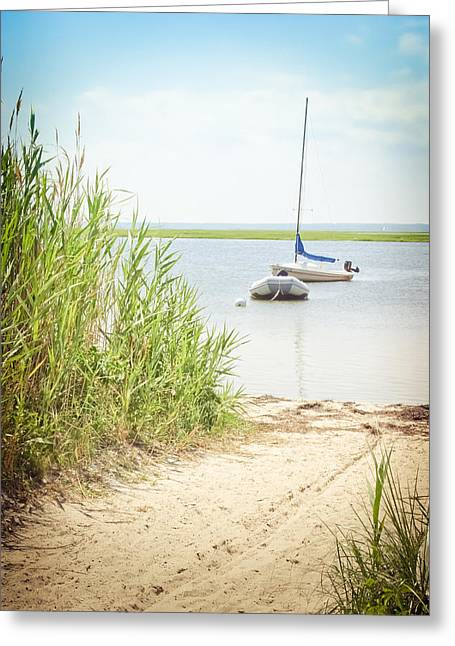 Sailboat Art Greeting Cards - Come Sail Away Greeting Card by Colleen Kammerer