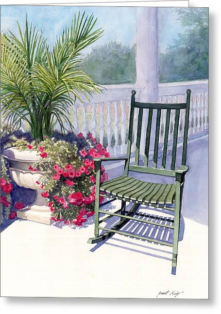 Come Sit A Spell Greeting Card by Janet King