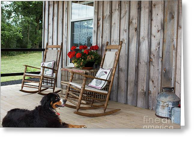 Come Sit A While Greeting Card by Barbara McMahon