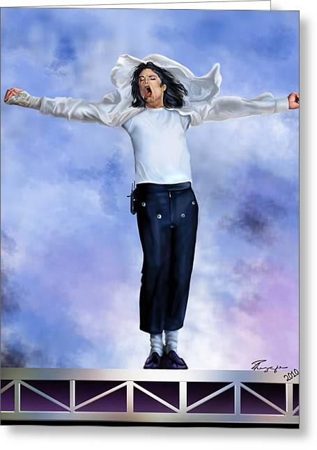 Super Star Greeting Cards - Come Together Over Me - MJ Greeting Card by Reggie Duffie