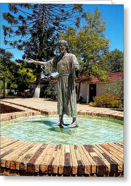 Christ Walking On Water Greeting Cards - Come Unto Me - Jesus Greeting Card by Glenn McCarthy