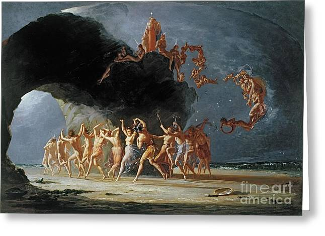 Fantasy Greeting Cards - Come unto these Yellow Sands Greeting Card by Richard Dadd