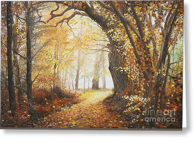 Landscape Framed Prints Greeting Cards - Come with me Greeting Card by Sorin Apostolescu