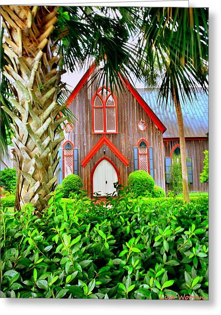 South Carolina Greeting Cards - Come Worship At Church of the Cross Bluffton SC Greeting Card by Lisa Wooten
